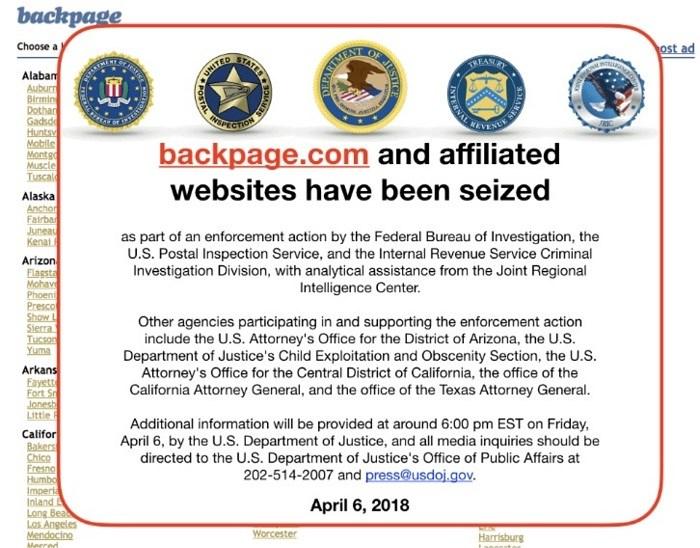 FBI shut down backpage